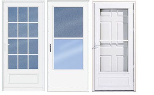 Steel Storm Doors with Screens 500 x 309